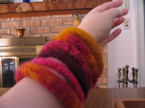 My favorite warm tone bangles...